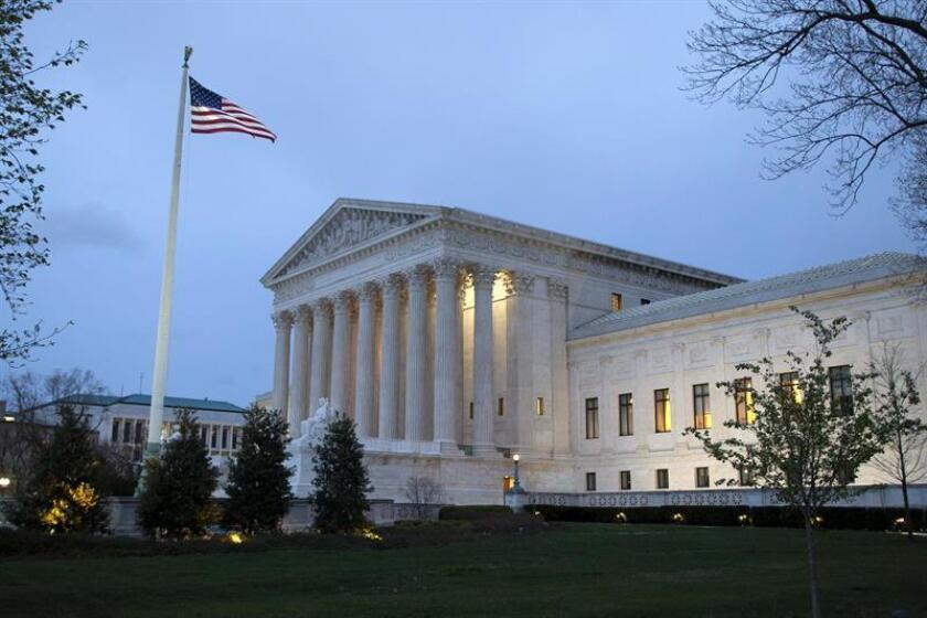 Vista del edificio del Tribunal Supremo estadounidense en Washington DC (Estados Unidos). EFE/Archivo