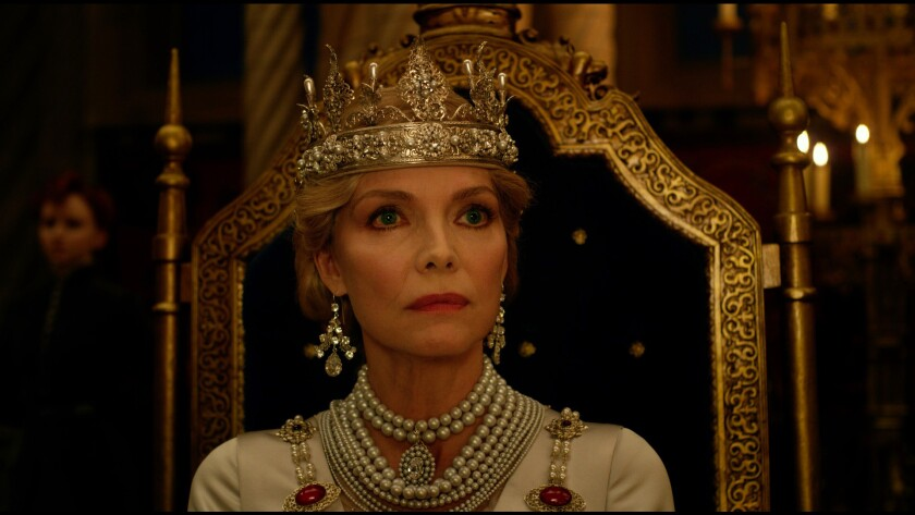 "Michelle Pfeiffer in the movie ""Maleficent: Mistress of Evil."""
