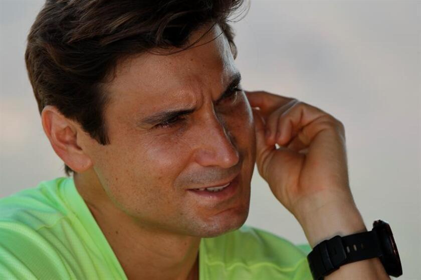 El tenista español David Ferrer habla hoy, domingo 25 de febrero de 2018, durante una entrevista con Efe en el marco del Abierto Mexicano de Tenis de Acapulco. EFE