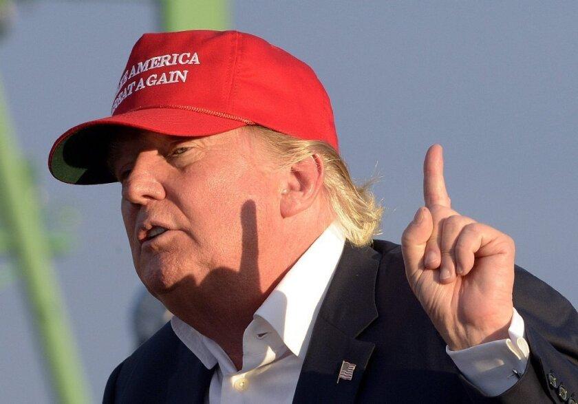 Donald Trump on the stump