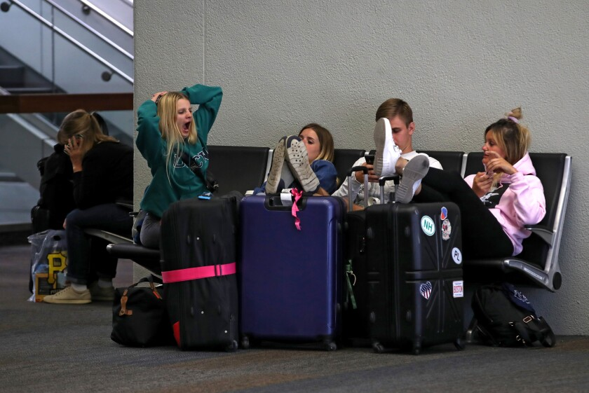 Hundreds of departing and arriving flights at San Francisco International Airport have been canceled or delayed daily since Sept. 7 because of the renovation of a key runway.