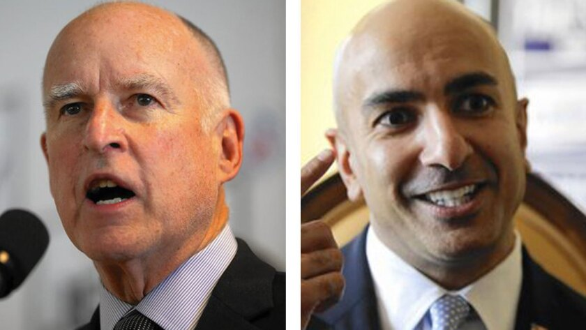 Gov. Jerry Brown held his grand finale as a gubernatorial candidate Saturday and opponent Neil Kashkari made his own appearance, inside an office building in Milpitas, near San Jose.