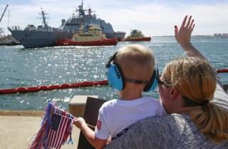 After months of repairs, warship Fort Worth back home
