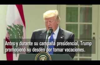 Trump de vacaciones por 17 días