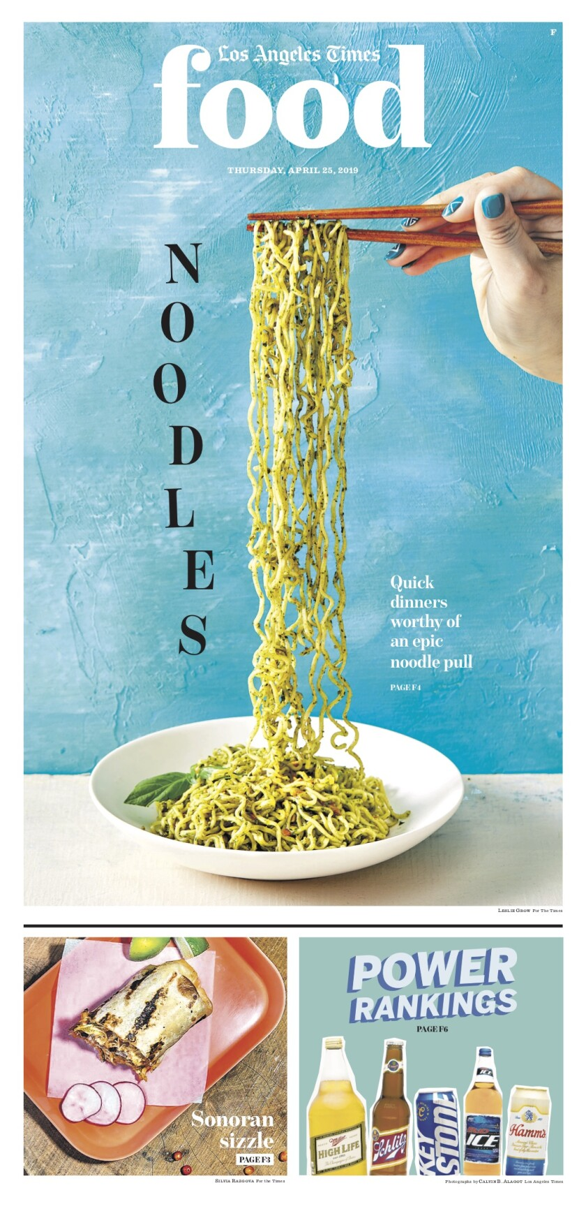 Los Angeles Times Food cover, April 25, 2019