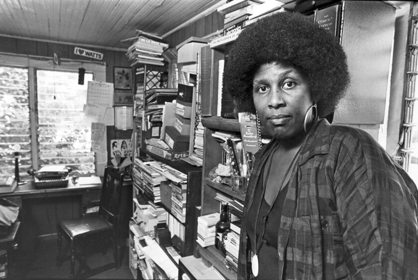 Poet Wanda Coleman in 1986. The Ascot Branch of the L.A. Public Library will be dedicated to her next week.