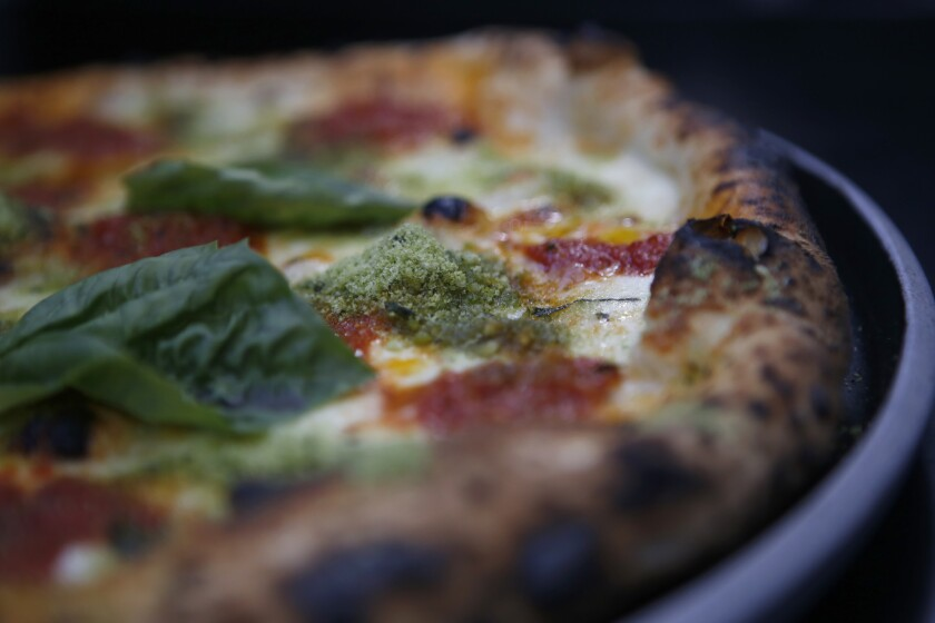 The Neo-Margherita pizza at Pizzana.