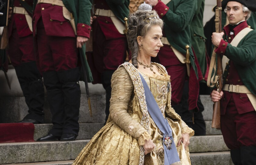 "Helen Mirren in the title role in ""Catherine the Great,"" HBO's miniseries on the Russian monarch."