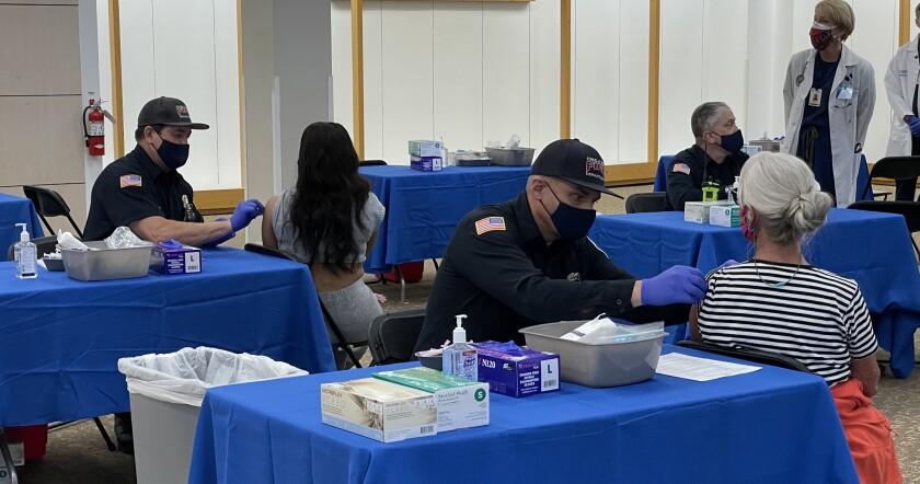 Hasta 5000 vacunas por día estarán disponibles en la súper estación de Chula Vista.