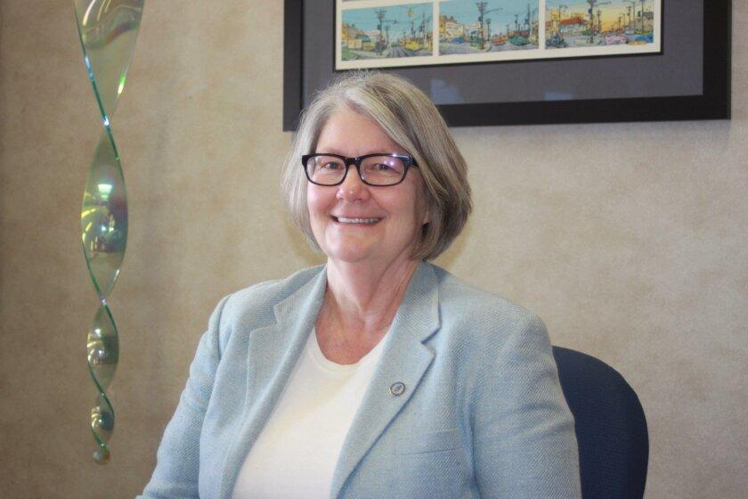 San Diego City Council President and La Jolla Shores resident Sherri Lightner in her City Hall office