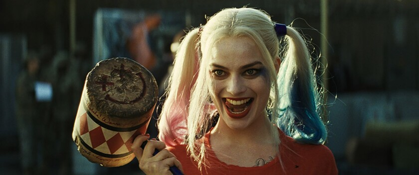 "Margot Robbie as Harley Quinn in Warner Bros. Pictures' action adventure ""Suicide Squad."""