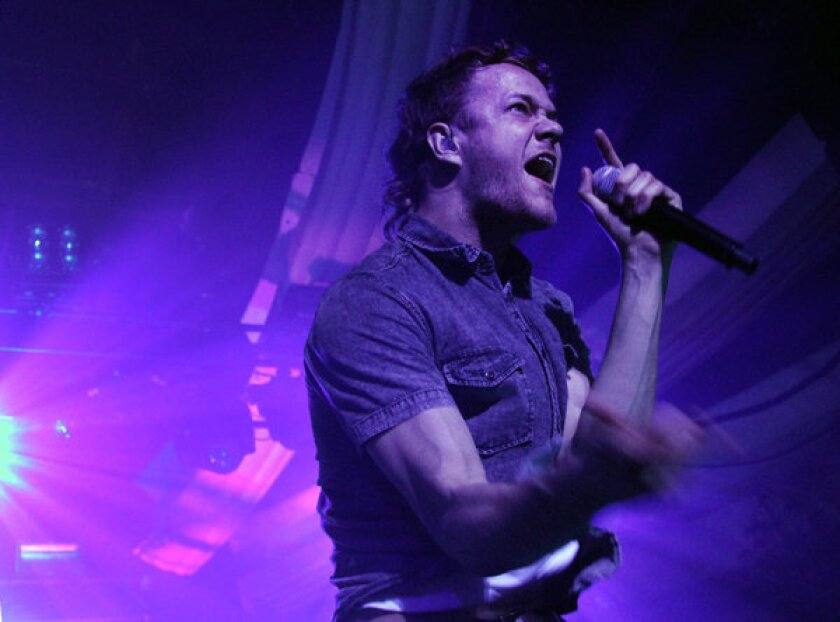 "Dan Reynolds leads Imagine Dragons at the Hollywood Palladium, where the Las Vegas band played two sold-out shows in support of its hit album ""Night Visions."""