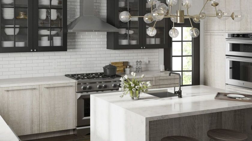 Quartz is now the top choice for kitchen countertops. Photo courtesy of Lowe's