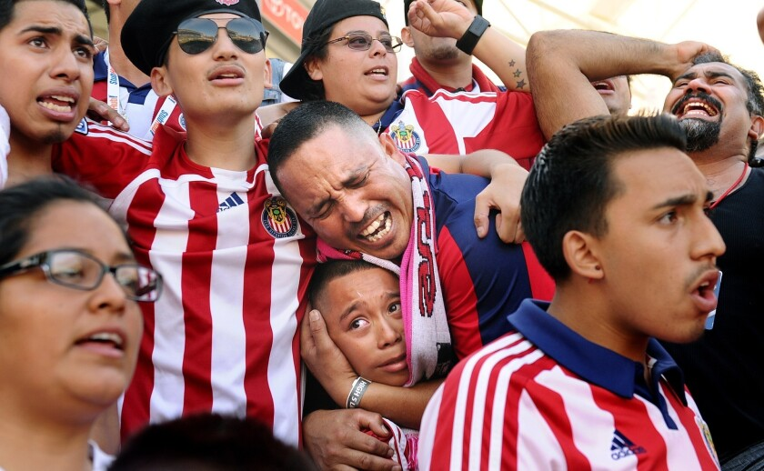 While Chivas USA had ardent fans like Juan Gutierrez -- who holds his son Angel, 11, as time expires in Chivas' 1-0, season-ending victory over San Jose -- many fans of Mexican soccer were alienated with the associated to Chivas de Guadalajara.