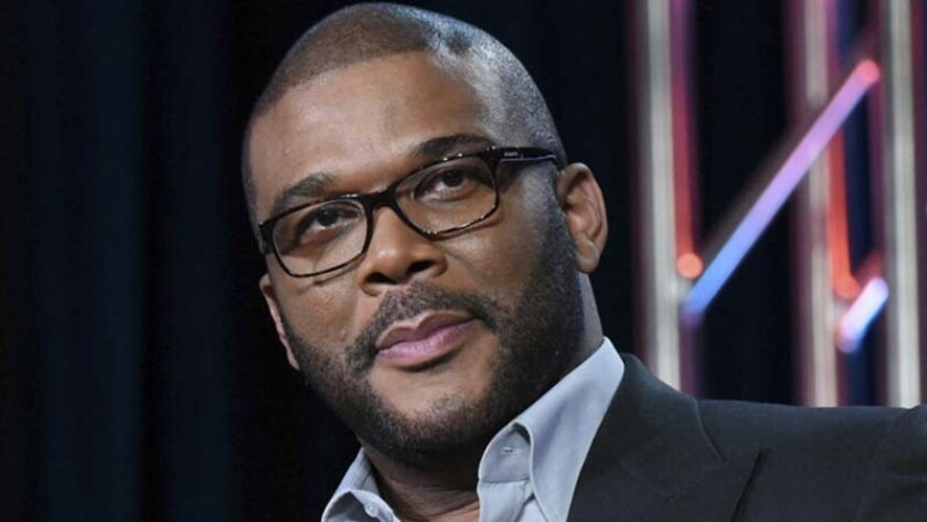 """Tyler Perry participates in a panel for Fox's """"The Passion"""" in 2016."""