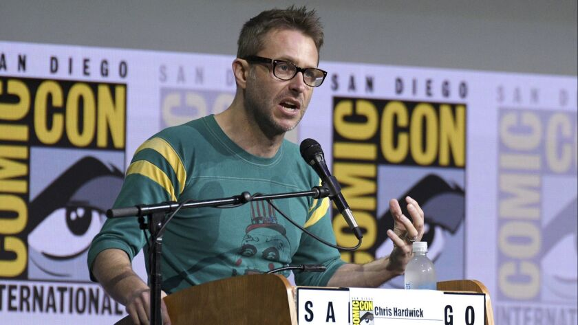 "Chris Hardwick moderates the ""Fear The Walking Dead"" panel during a previous iteration of Comic-Con International in San Diego."