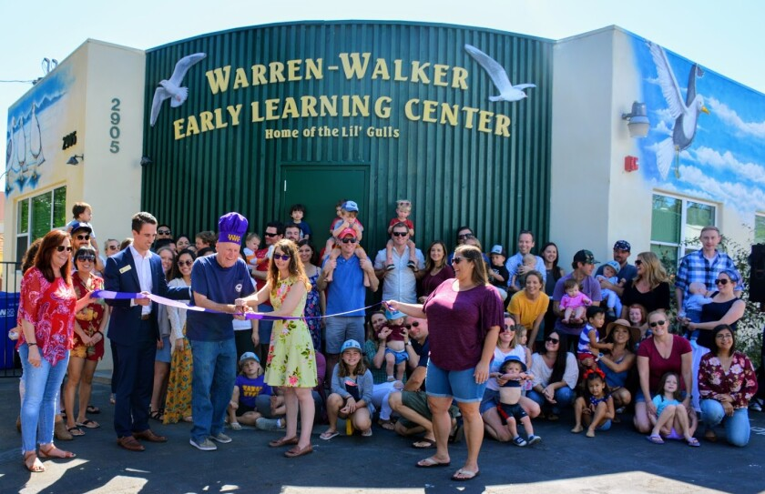 Early Learning Center Opens in Point Loma Warren-Walker School hosted a barbecue, Saturday, Oct. 5 at its new Early Learning Center, 2905 Cadiz St., where families and staff gathered for a ribbon-cutting and to celebrate the new school year. Approaching its 90th anniversary, Warren-Walker School has 400-plus students — infants through 8th grade — and is now accepting applications for the 2020-2021 school year. For more information, visit warren-walker.com or call (619) 223-3663.