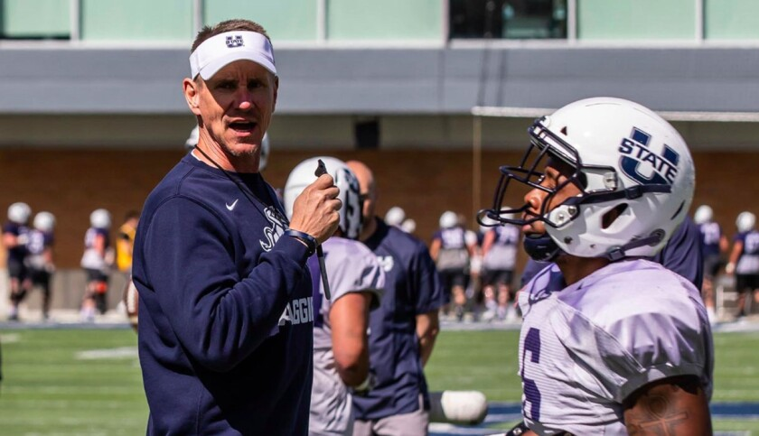 Utah State head coach Gary Andersen returned this season for his second stint as Aggies head coach after guiding the program from 2009-12.