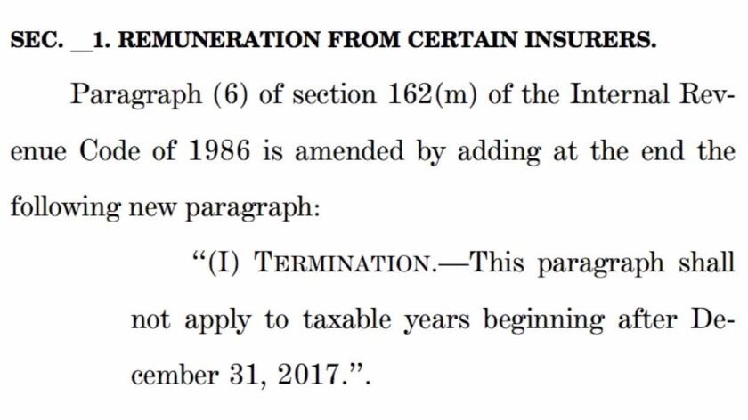 With this language, the House GOP repeals the executive compensation rule, very quietly.