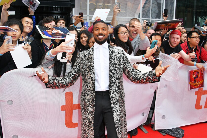 "2019 Toronto International Film Festival - ""Just Mercy"" Premiere Michael B. Jordan red carpet"