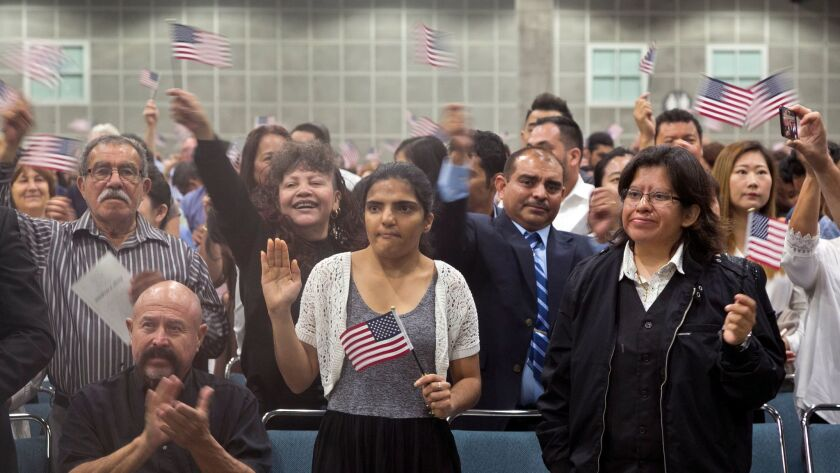 Becoming an American citizen in the age of Trump - Los