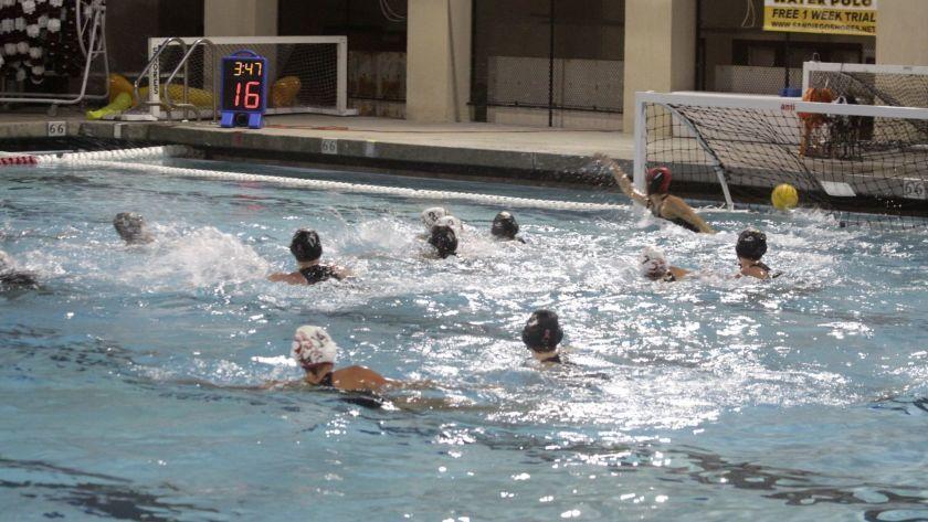The La Jolla High School Vikings score a goal against The Bishop's School Knights in 2019.