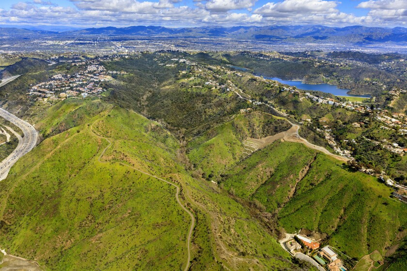 """An aerial photo of Senderos Canyon, which translates from Spanish to """"Walking Trails Canyon."""""""