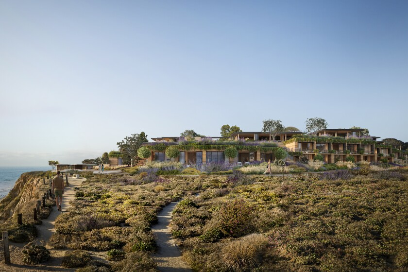 If approved by Del Mar voters March 3, the Marisol initiative would lead to a project that includes 65 hotel rooms, 31 villas and 22 affordable housing units.