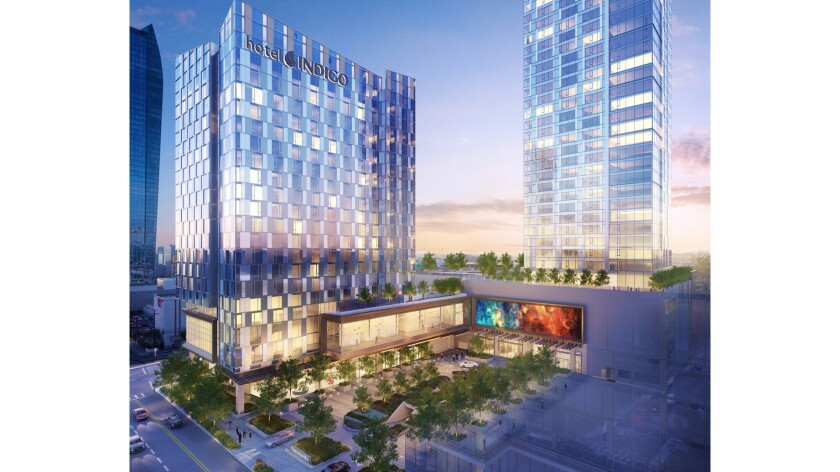 Hotel Indigo will be part of the Metropolis complex in downtown Los Angeles (artist's rendering).