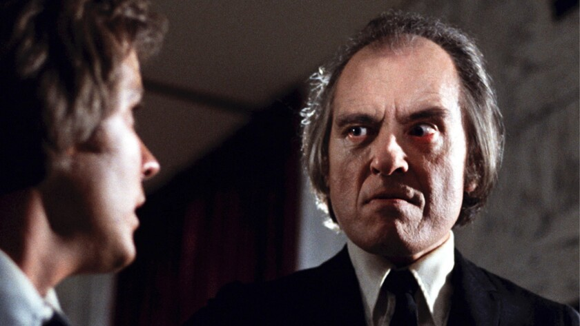 """Bill Thornbury, left, and Angus Scrimm in the restored version of the 1979 movie """"Phantasm: Remastered."""""""