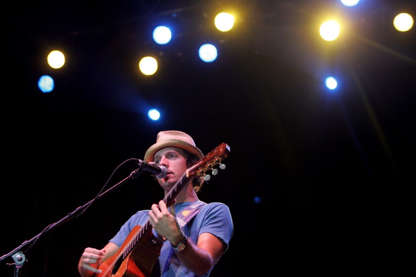 Jason Mraz performs at a San Diego Music Awards ceremony
