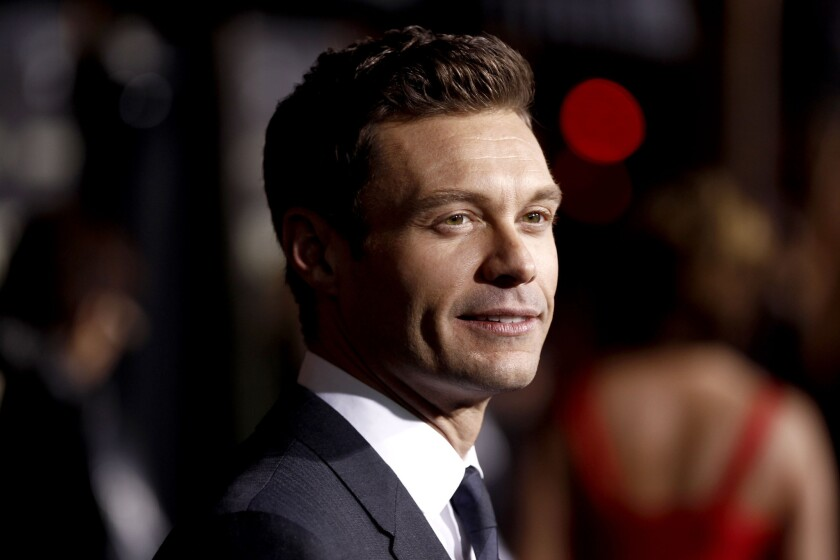 """Ryan Seacrest arrives at the premiere of """"New Year's Eve."""""""