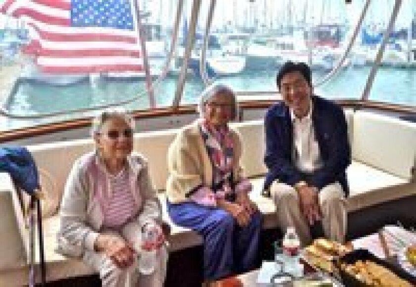 Nancy Snyder, Frances Hunter and Jung-Ho Pak, Orchestra Nova artistic director.