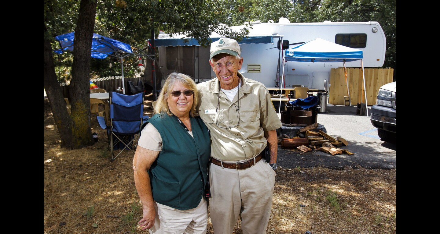 Camp Hosts Ed and Becky Woosley