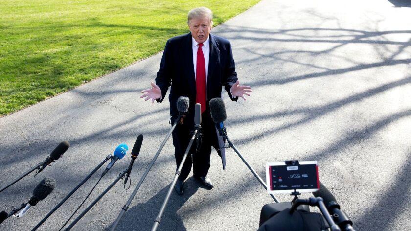 US President Donald J. Trump, Washington, USA - 28 Mar 2019