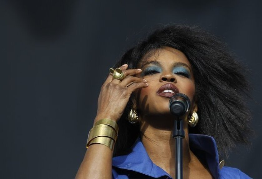 Lauryn Hill performs at the L.A. Rising festival in 2011.