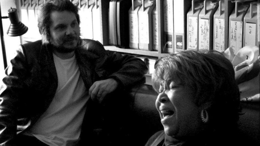 """Jeff Tweedy of Wilco (left) has produced three albums by Mavis Staples, including her upcoming """"If All I Was Was Black."""""""