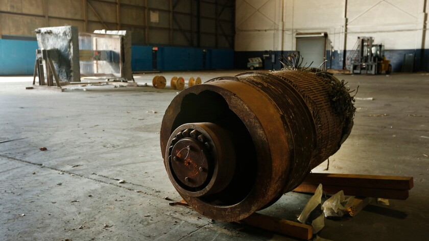 An elevator motor from the World Trade Center.