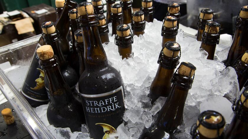 Plenty of Straffe Hendrik, Bruges Quadrupel Ale beer samples were readily available for attendees at the San Diego International Beer Festival held at the San Diego County Fair.