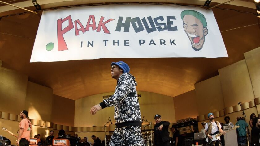 Anderson .Paak performs at .Paak House in the Park on Dec. 8, 2018, at MacArthur Park in L.A.