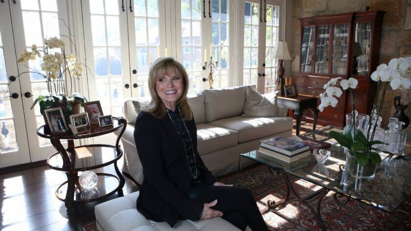 Ann Dashiell, a real estate agent with Pacific Union International, at her daughter's home in Beverly Hills.