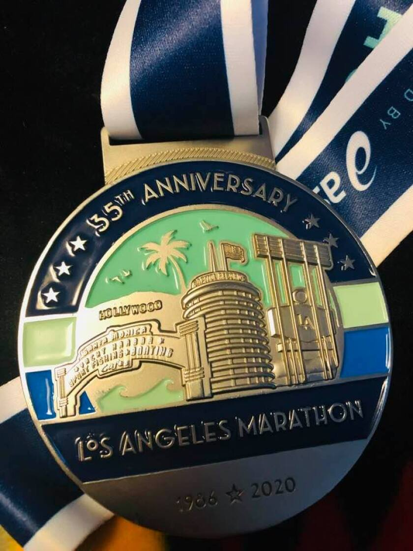 35th Los Angeles Marathon medals