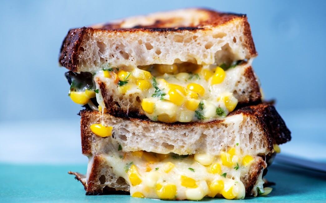 Korean Corn Grilled Cheese
