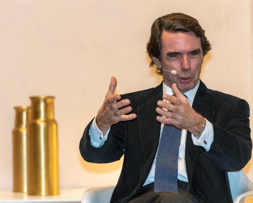 Fotografía del expresidente del Gobierno, José María Aznar. EFE/Archivo