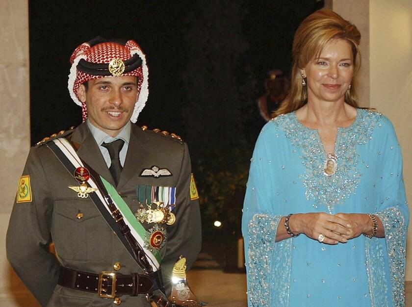Jordan's Prince Hamzah and Queen Noor