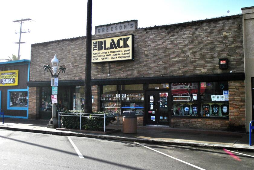 The Black smokeshop, 5017 Newport Ave. in Ocean Beach area of San Diego, is open 10 a.m. to 8 p.m. daily. (619) 222-5498. theblackoceanbeach.com