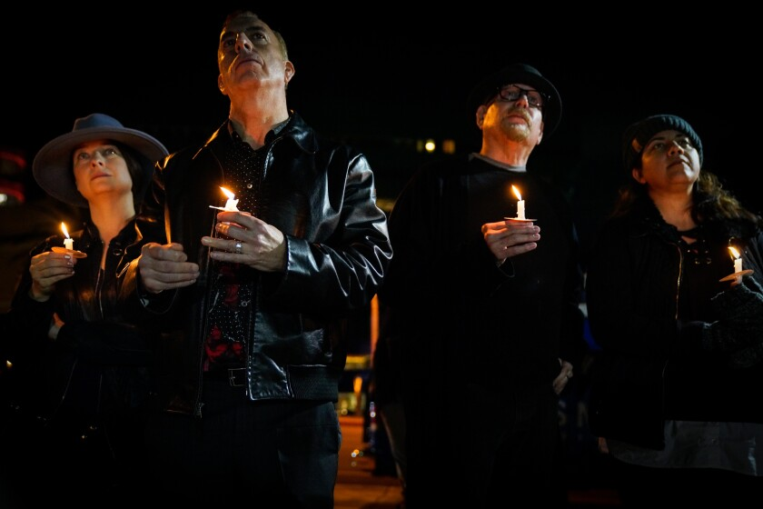 Vigil for Timothy Dean in West Hollywood