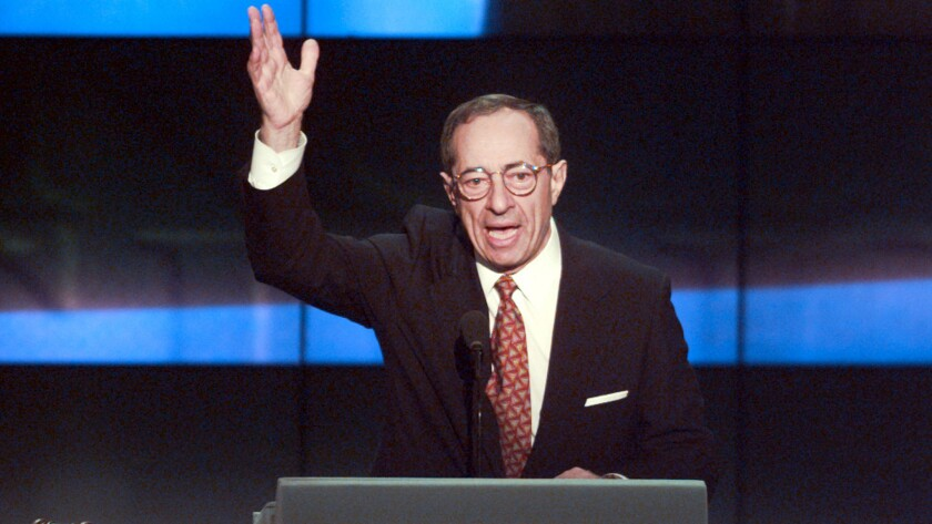 Mario Cuomo at the Democratic National Convention in Chicago in 1996.