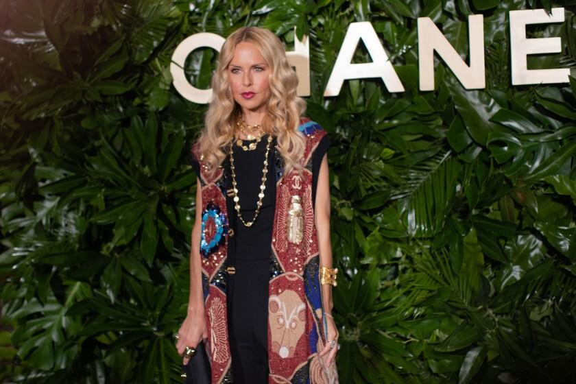 Fashion designer Rachel Zoe at the Chanel dinner.