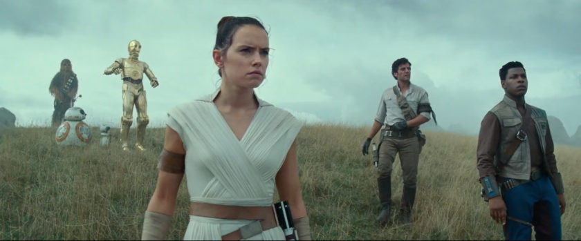 "Daisy Ridley, from left, Oscar Isaac and John Boyega in a ""Rise of Skywalker"" scene. Boyega says it was his fault the screenplay was accidentally leaked."